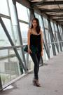 Black-zara-leggings-teal-zara-bag-black-zara-heels-black-nordstrom-top