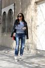 Blue-pull-bear-jeans-black-zara-jacket-black-celine-sunglasses