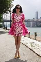 no brand dress - Mango sunglasses - Zara heels