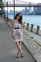 Mango sunglasses - BCBG dress - Mango belt - Audrey Brooke heels
