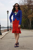 H&M blazer - vintage top - Forever 21 skirt - Payless heels