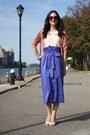 Floral-lace-koton-top-blue-diane-von-furstenberg-skirt-pink-diane-cardigan