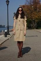 leopard print vintage dress - brown penti stockings