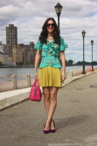 Urban Outfitters dress - pirk BCBG purse - Tucker top - purple Dolce Vita heels