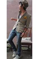 Target hat - Ralph Lauren blazer - Empyre jeans - nike shoes