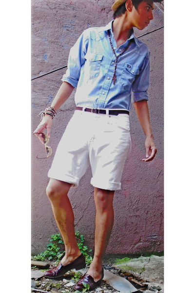 Wrangler shirt - Levis shorts - Express Men belt - Target hat - Louis Vuitton su