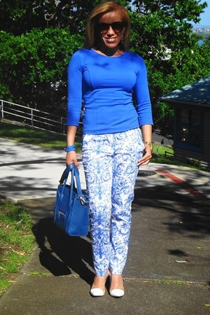 Forever 21 sunglasses - Celine bag - Forever 21 blouse - Forever 21 pants