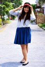 Blue-zara-skirt