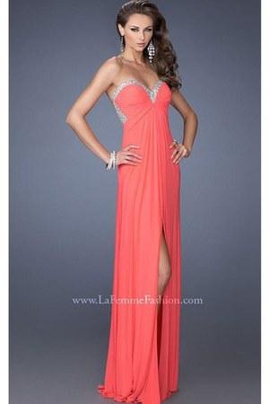 coral La Femme 19703 dress