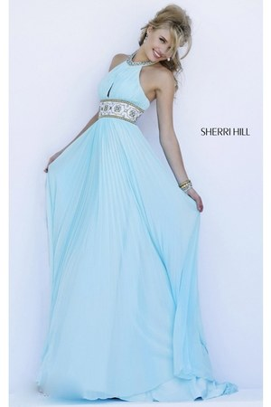 sky blue Sherri Hill 11251 dress - ivory Sherri Hill 11251 dress
