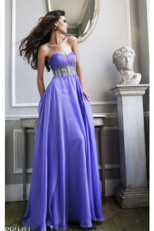 deep purple Sherri Hill 3909 dress