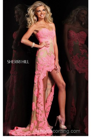 coral Sherri Hill 21016 dress - pink Sherri Hill 21016 dress