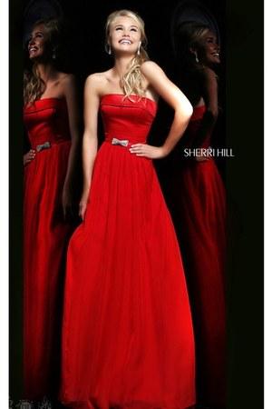 red Sherri Hill 21337 dress