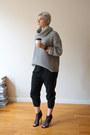 Heather-gray-american-apparel-sweater-black-vince-pants