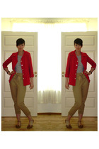 blazer - pants - top - shoes