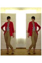 blazer - pants - top - shoes