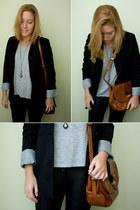 Pimkie blazer - Retro bag - Zara sweatshirt