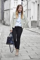 second hand blouse - Zara boots - Bershka jeans - Zara blazer