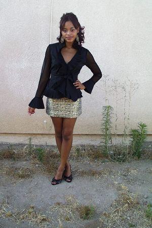 H&M skirt - Ross blouse - f21 accessories