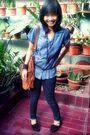 Blue-dust-jeans-blue-blouse-brown-thyo-pernik-accessories-black-shoes-bl
