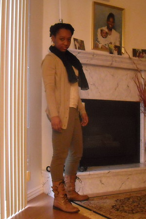 H&M leggings - Forever 21 cardigan - Charlotte Russe blouse