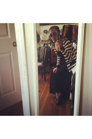 black Prada sandals - black jersey knite Forever 21 dress