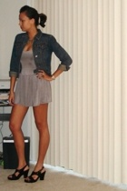 vintage jacket - forever 21 dress - Tommy Hilfiger shoes