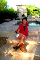 Urban Outfitters shirt - Target skirt - Target boots