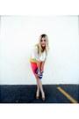 White-sugar-lips-blouse-chartreuse-nanette-lepore-vest-carrot-orange-forever