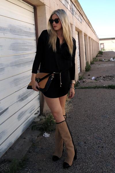 black Zara boots - mustard TJMaxx bag