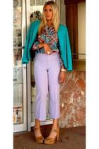 violet vintage pants