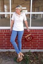 eggshell Karta blouse - sky blue Forever 21 pants