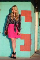 hot pink Old Navy skirt - navy vintage top
