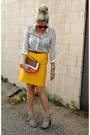 Mustard-j-crew-skirt-carrot-orange-sam-moon-bag-dark-brown-target-belt