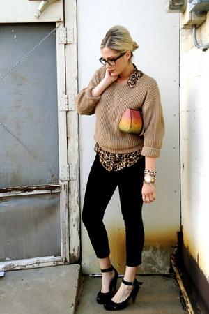 carrot orange LAMB bag - light brown Urban Outfitters sweater