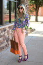 Dark-brown-karen-walker-sunglasses-light-orange-gap-pants