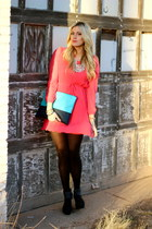 hot pink frenzi dress - navy Madison Elizabeth bag