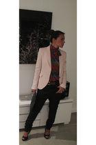 pink no brand blouse - Ralph Lauren belt - pink Zara jacket - G-Star jeans - no