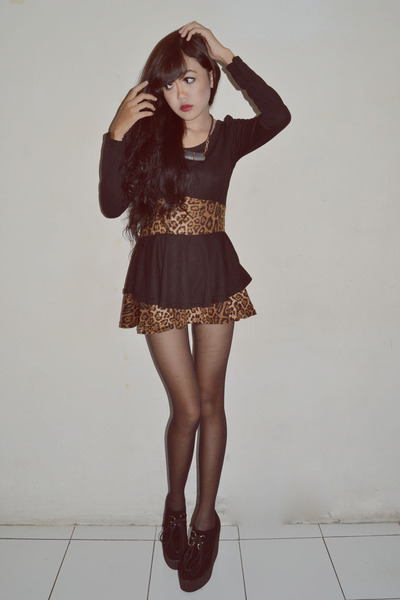 peplum unbranded dress - creepers new look wedges