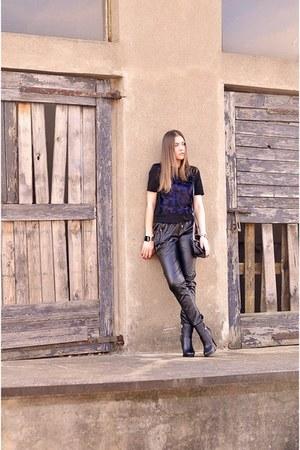 boots - bag - pants - top - Mohito bracelet