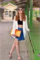 bag - jacket - skirt - top - heels - H&M ring