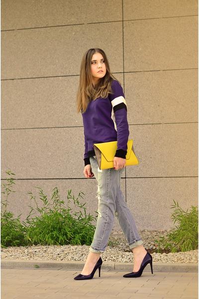 blouse - jeans - bag - H&M ring - heels