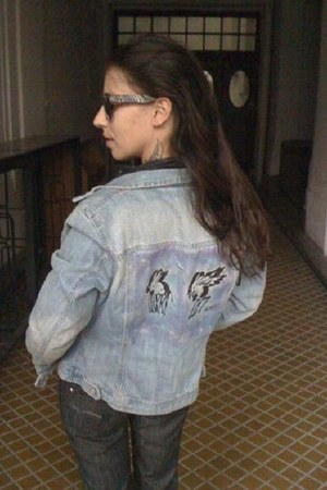 light blue jeans DIY jacket