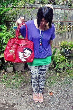 red betty boop yoko ara bag - heather gray pattern Local Online Shop leggings