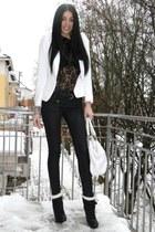 Zara blazer - H&M blouse - SoHo NYC bag - H&M boots
