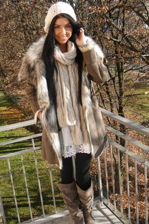Zara coat - H&M hat - Zara scarf