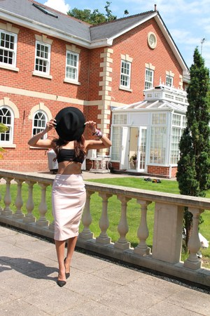 pencil skirt asoscom skirt - balero asoscom hat - Zara heels