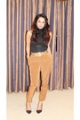 Gold-vintage-versace-belt-silver-clutch-vintage-bag-bronze-zara-pants