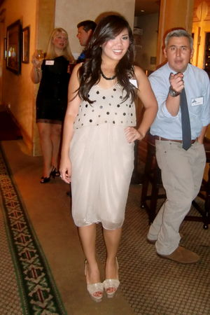 beige 31 phillip lim dress - beige YSL shoes - black J Crew necklace