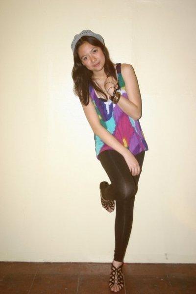 Forever21 top - Zara tights - ichigo shoes
